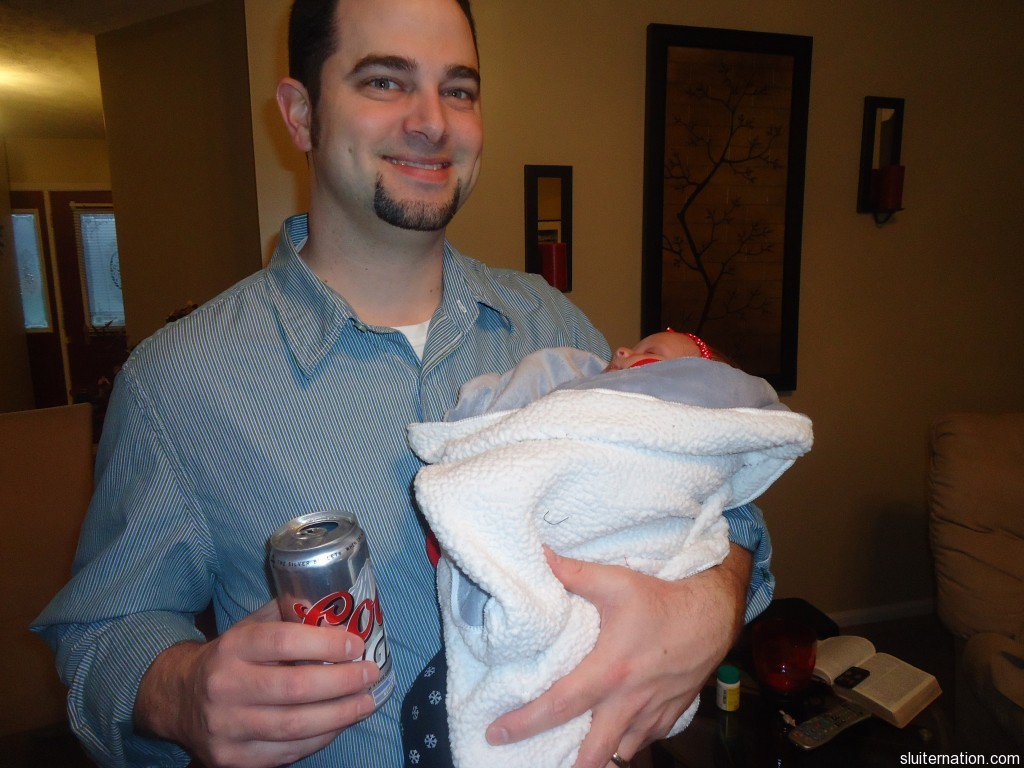 beer and a baby niece.