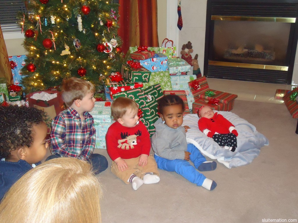The grandbabies: Kingston (his profile) (20 months), Eddie (3.5 years), Charlie (9.5 months) Kyrie (20 months), Lilly (under a month)