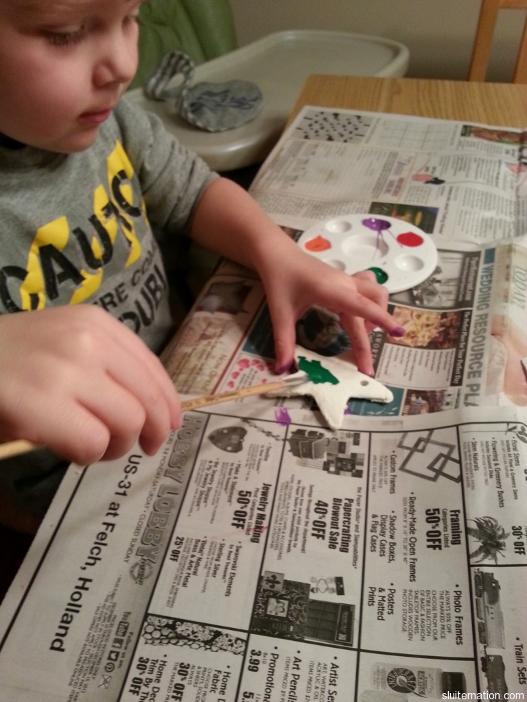 December 9: Making presents for the Grandmas and Grandpas