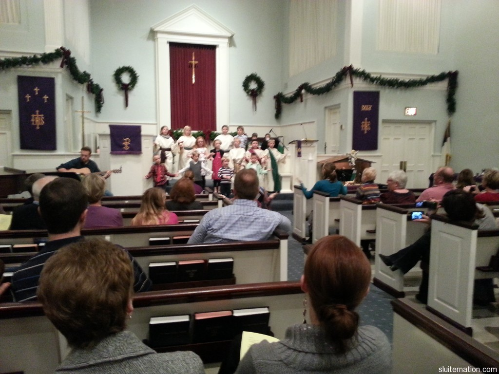 December 16: Eddie's very first church Christmas program