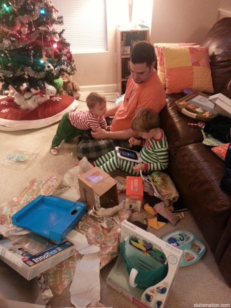 December 25: Christmas morning in Sluiter Nation