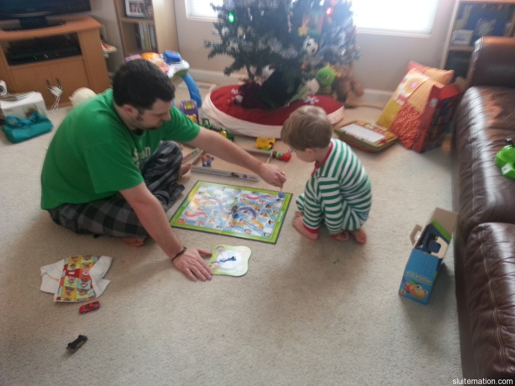 December 29: Games in the morning with the boys and then games 'til 2:00am with friends.  Boom.