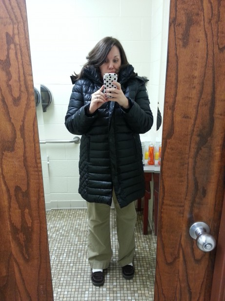 January 10: New winter jacket for Christmas just in time for it to be 50 degrees in January. Weirdsies.