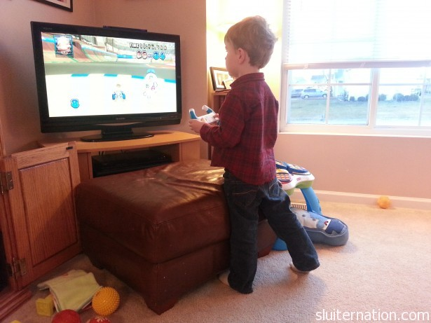 January 14: He is getting so good at Mario Kart...it's sort of scary