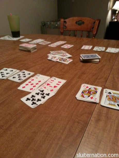 January 18: Late night of Hand and Foot with some of our best friends.