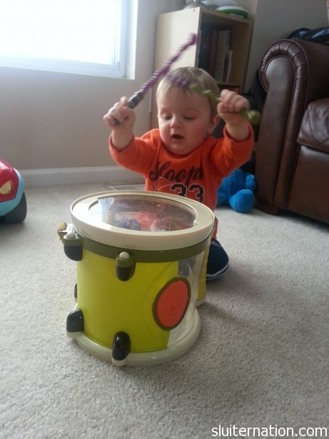February 2: I do believe Charlie has inherited his uncle Chris's musical talent. ROCK ON, YO!