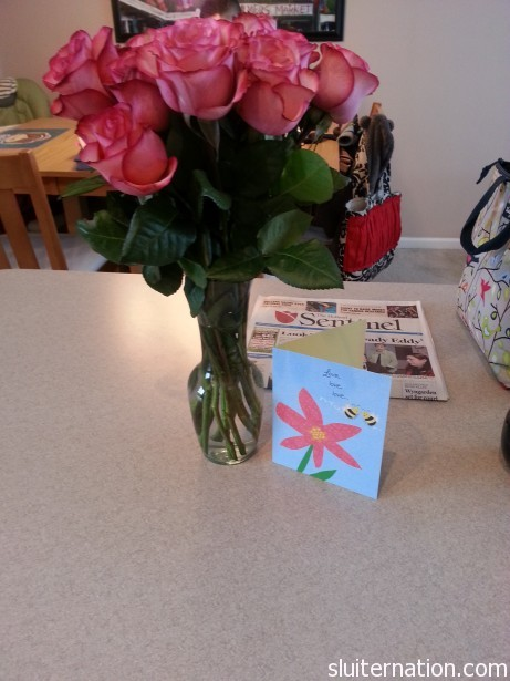 February 27: I get flowers for no reason other than my hubby loves me.