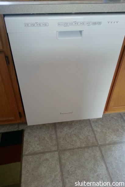 March 7: NEW DISHWASHER!