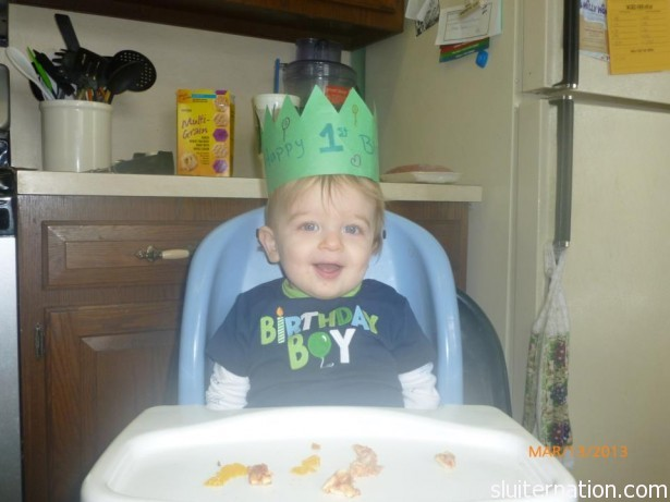 March 13: Happy Birthday, Charlie! (photo by Renae, the boys' daycare mom)