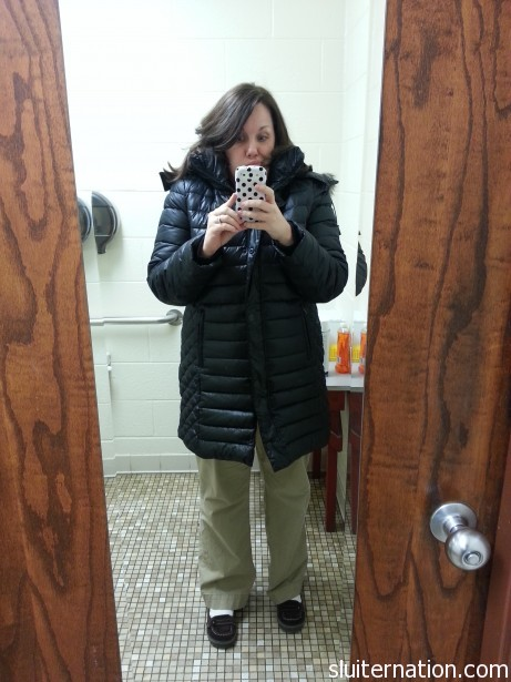 Brrr. We had a cold, snowy winter.  Coat is Michael Kors from Younkers