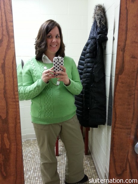 Another great sweater from the Gap. Eddie loves green, so he picked this one for me.