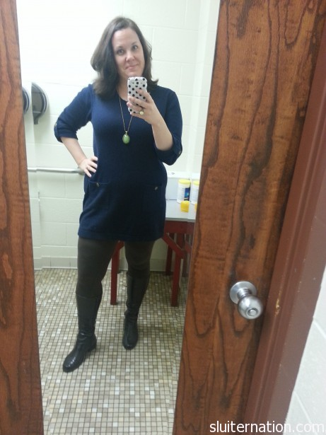 Sweater dress!  From the Gap.
