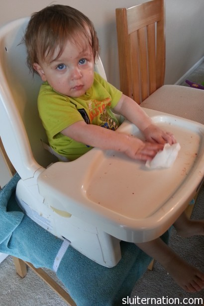 April 21: How does this kid get SO grubby when he eats?