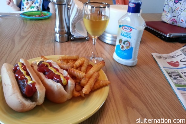 May 1: How we celebrate the first day of May: hot dogs on the grill with white.  Nothing but class up in here.