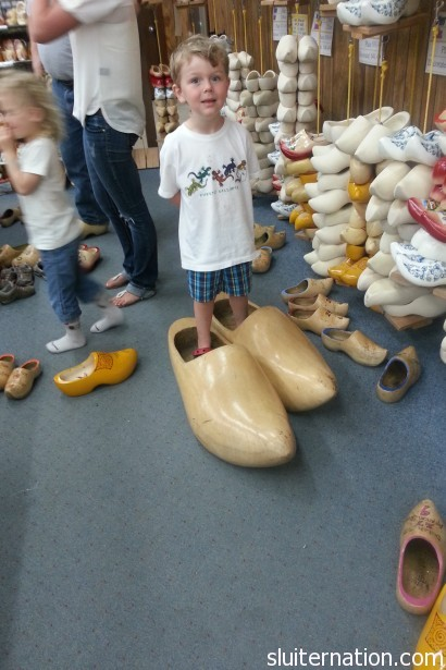 May 2: Just a quick stop at our local wooden shoe factory. Wait. You DON'T have a local wooden shoe factory? Weirdsies.