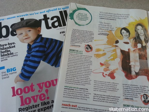 Oh that's just me...in Babytalk Magazine...ON THE SAME PAGE AS ALANIS MORISSETTE!