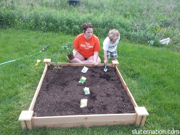 May 21: Eddie and I plant our garden.
