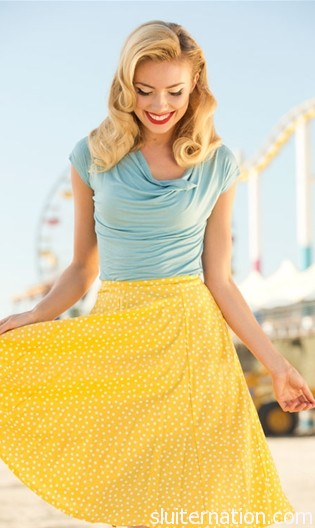 Lemon Drop Skirt from Shabby Apple