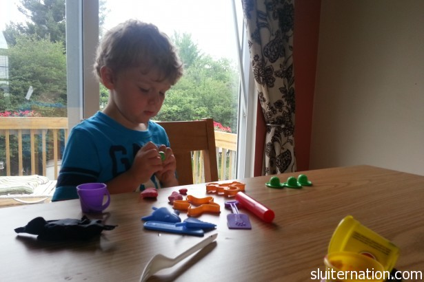 June 12: Play Doh on yet another rainy day.