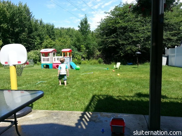 June 17: Eddie starts gymnastics each morning, and we fill our afternoon with outside fun.