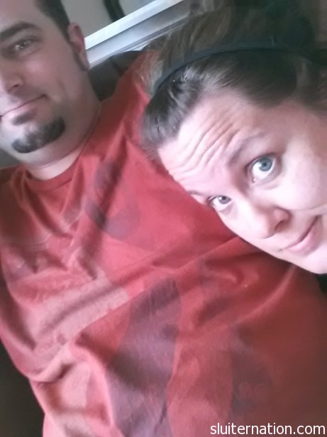 June 25: The elusive hubby snuggle. It was probably interrupted after 10 seconds by a little boy.