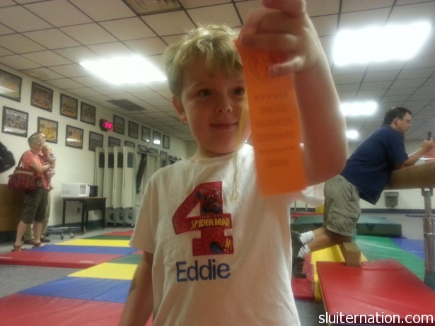 June 27: Eddie's last day of gymnastics. He did great!