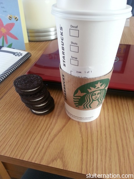 have a cup or two on me. but hands off the oreos, yo.