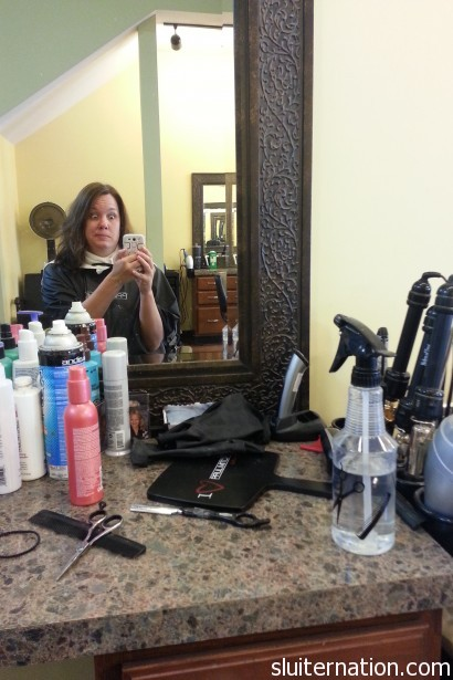 July 9: Boys in daycare = salon day for me!  Yippee!