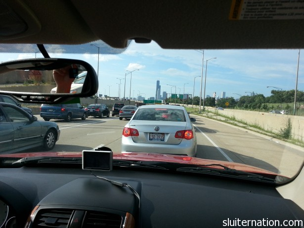 Chicago traffic around 5:30 local time.