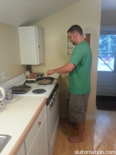 Cort channeled his dad's talent of making DELICIOUS breakfast for the masses.