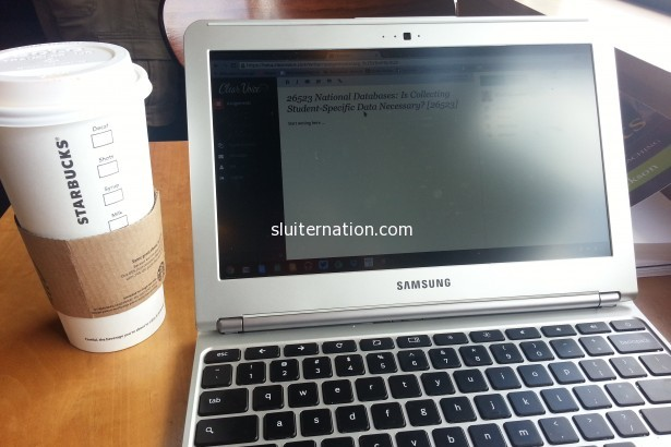 September 8: My new Sunday afternoon routine = a few hours at Starbucks to get some writing done.