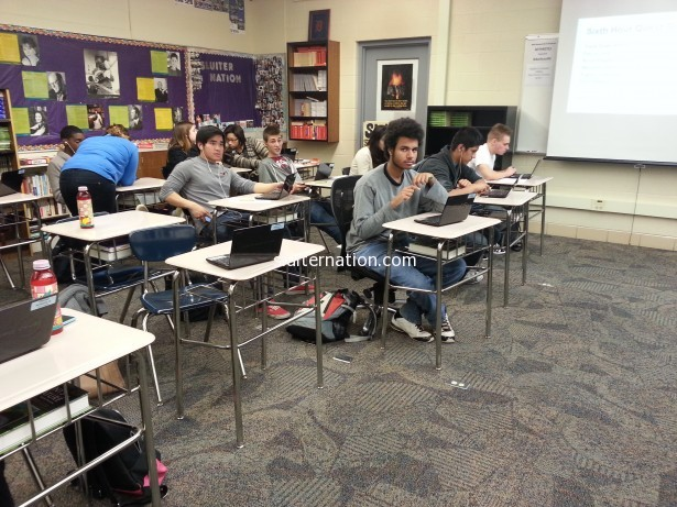 November 7: My students work on a webquest while I rest my voice that is quickly leaving me.