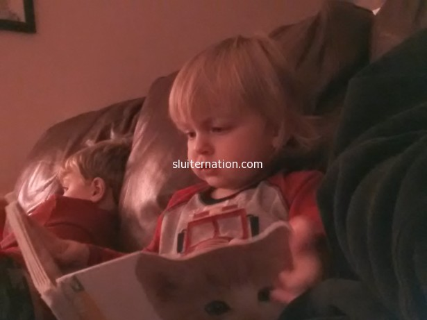 November 24: Reading about cats before bedtime.