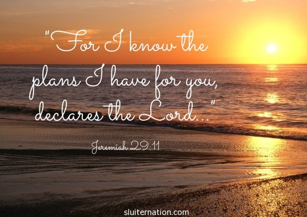 """For I know the plans I have for you, declared the Lord..."""