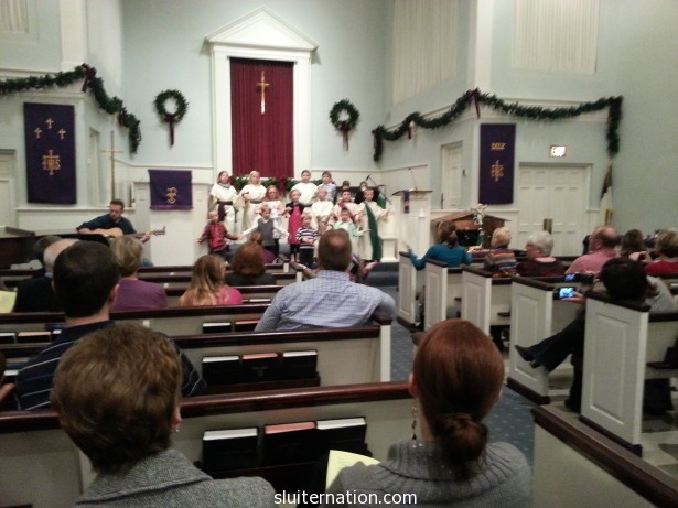 Eddie singing in church for Christmas just over a year ago.