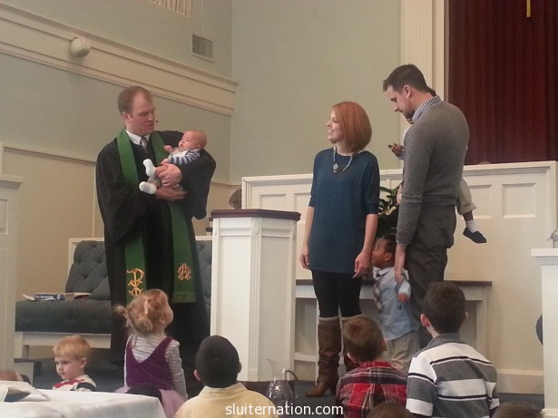 February 10: Nephew Ezra K gets baptized.