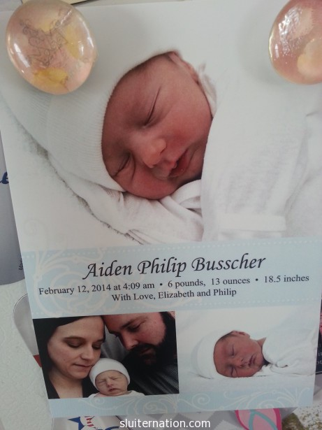 February 27: We get this in the mail. And then I catch Cortney staring at the smooshy baby CONSTANTLY. #cute