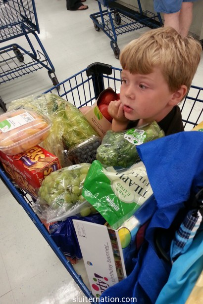 June 22: Grocery shopping with this guy.