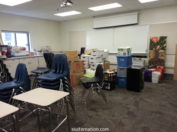 August 6: Trying to get moved into my classroom. Failing because SO OVERWHELMED.