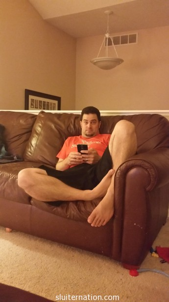 August 13: after date night with this guy, he plays with his new phone. We went with Galaxy S5's and LOVE them already!