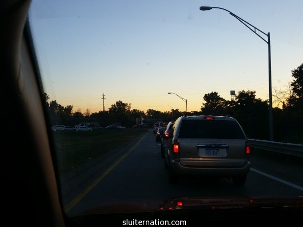 September 8: Massive traffic back up that puts me 30 minutes behind schedule and almost late for work. Mondays, man.
