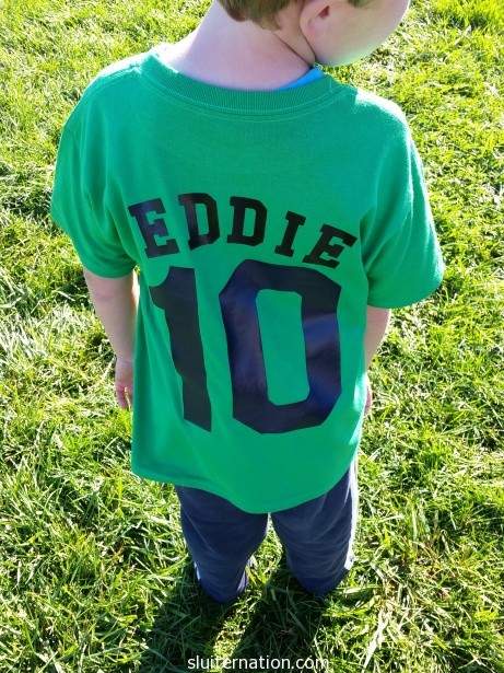 September 13: Eddie's first soccer game!