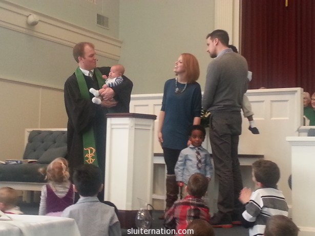 You brought the baptism of my little nephew, Ezra.