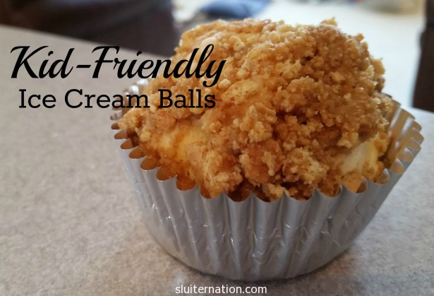 Kid-friendly ice cream balls that are so simple, the kids can help make them too!