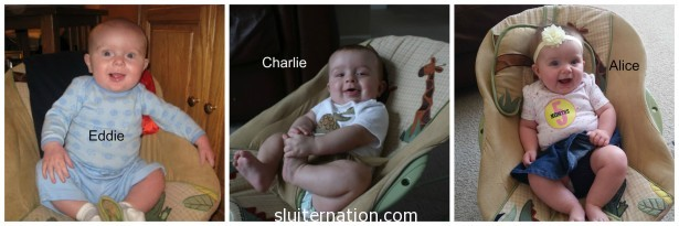 I realize this could be the same baby, but I assure you, it's three different children.