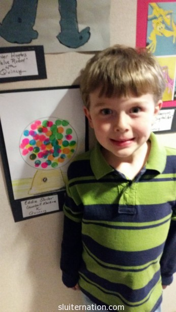 April: Eddie's artwork is chosen for the spring art show.